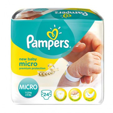 Pampers New Baby 0 Hospital Micro 1-2.5 Kg
