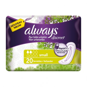 Always Discreet Light Incontinence Small