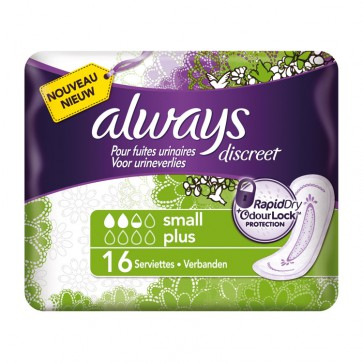 Always Discreet Light Plus Incontinence Small